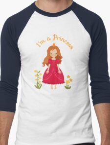 Little girl Princess Men's Baseball ¾ T-Shirt