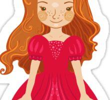 Little girl Princess Sticker