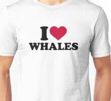 I love Whales Unisex T-Shirt