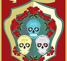 DIAS DE LOS MUERTOS DAY OF THE DEAD SKULLS ROSES by Desenatorul1976