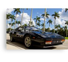 Bright Sports Car on a Sunny Day in Miami Canvas Print