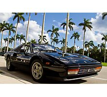 Bright Sports Car on a Sunny Day in Miami Photographic Print