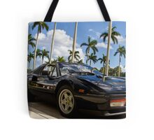 Bright Sports Car on a Sunny Day in Miami Tote Bag
