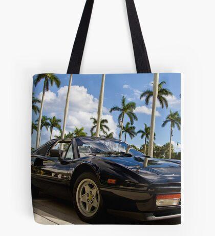 Bright Sports Car on a Sunny Day in Miami Tote Bag