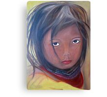 Girl from the Amazonas, Oil Painting Canvas Print