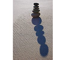 Five Round Stone Stack & Shadow  Photographic Print