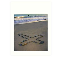Rock Cross & Ocean Art Print