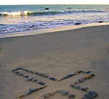 Rock Cross & Ocean by tom j deters