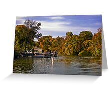 Colors on the river Greeting Card