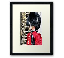 Queens Guard HDR Framed Print
