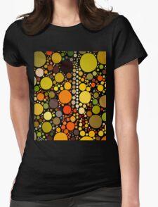 hipster fashion autumn colors brown green orange circles T-Shirt