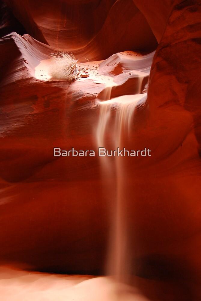 Antelope Canyon - Sand Fall by Barbara Burkhardt