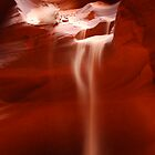 Antelope Canyon - Sand Fall by Barbara Burkhardt