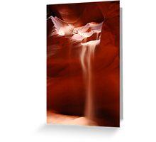 Antelope Canyon - Sand Fall Greeting Card