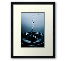 Water Drop Photography - Water in Time p10 Framed Print