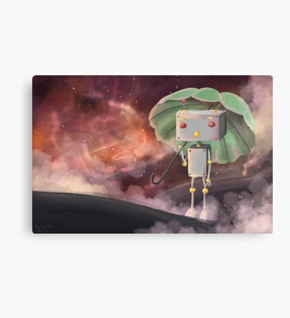 Robot in Space Canvas Print