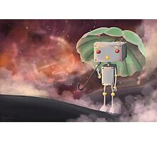 Robot in Space Photographic Print