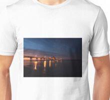 sunrise at the pier Unisex T-Shirt