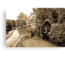 Canalside Canvas Print