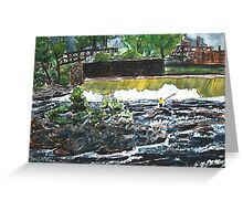 fly fishing the chattahoochee river painting Greeting Card