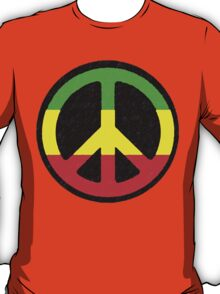 Rasta Peace Sign T-Shirt