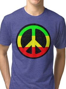 Rasta Peace Sign Tri-blend T-Shirt