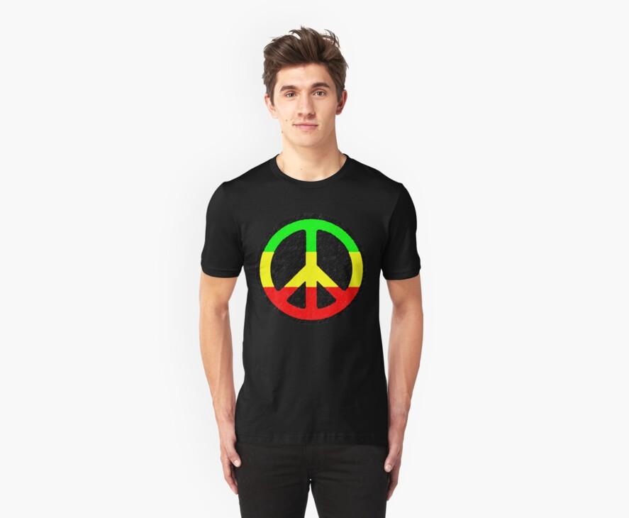 Rasta Peace Sign by Blahzeedee