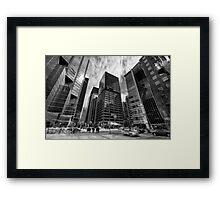 Shapes Financial Framed Print