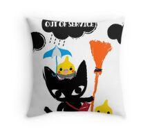 BLACK CAT & COCKATIELS Throw Pillow