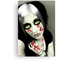 vampire eyes doll 1 Canvas Print