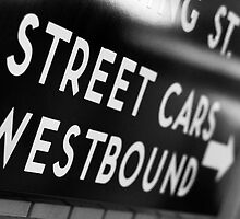 Street Cars Westbound by Rob Smith