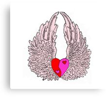 Heart and Wings Canvas Print