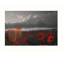 We must never forget - In Honour of Armistice Day Art Print