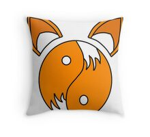 Tails Yin and Yang  Throw Pillow