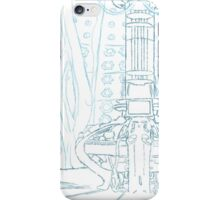 TARDIS blue prints iPhone Case/Skin