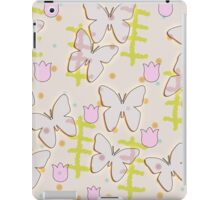 Butterfly and tulips iPad Case/Skin