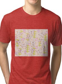 Butterfly and tulips Tri-blend T-Shirt