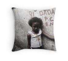 Rocinha Girl Throw Pillow
