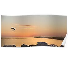 SUNRISE URANGAN PIER HERVEY BAY Poster