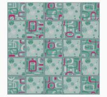 Beautiful Cushions/ Checks / 1950's retro/ pink and aqua One Piece - Short Sleeve