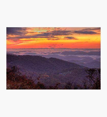Blue Ridge Sunrise Photographic Print