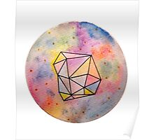 geometric water color Poster