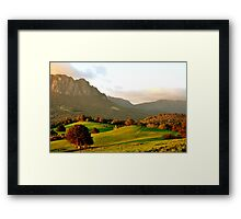 photoj Tas Mt Roland Framed Print