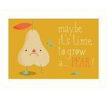 melodramatic pear Art Print