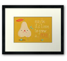 melodramatic pear Framed Print