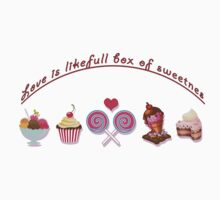Love is like full box of sweetness One Piece - Short Sleeve