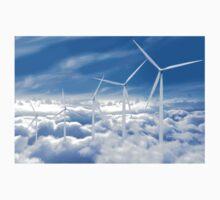 Wind Turbines in the sky One Piece - Long Sleeve