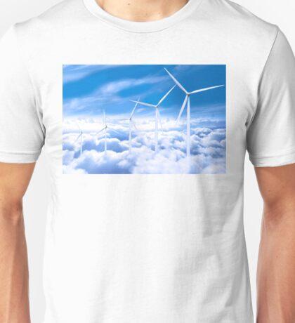 Wind Turbines in the sky Unisex T-Shirt