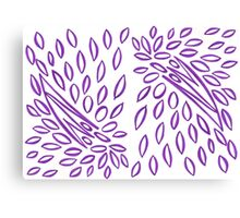 Passionately Purple - Lovely  Leaves Canvas Print