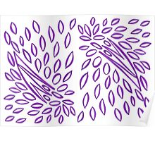 Passionately Purple - Lovely  Leaves Poster